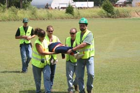 CERT Training Carrying an Injured Person