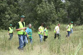 CERT Training in a Field