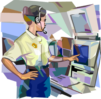 Photo of a clip art dispatcher